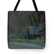 Amish Buggy Parked By A Creek Tote Bag