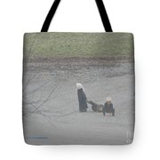 Amish Children Play Outside In The Evening Tote Bag