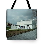 Amish Clothesline And A Barn Tote Bag