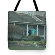 Amish Clothing Hanging To Dry Tote Bag