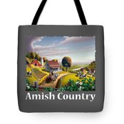 Amish Country T Shirt - Appalachian Blackberry Patch Country Farm Landscape Tote Bag