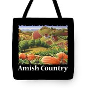 Amish Country T Shirt - Appalachian Pumpkin Patch Country Farm Landscape 2 Tote Bag