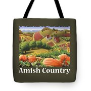 Amish Country T Shirt - Pumpkin Patch Country Farm Landscape 2 Tote Bag