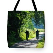 Amish Couple On Bicycles Tote Bag