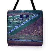 Amish Funeral Buggie Procession Aerial  Tote Bag