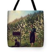 Amish Girls Watermelon Break Tote Bag