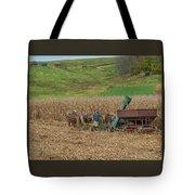 Amish Harvest In Ohio  Tote Bag
