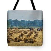 Amish Making Grain Shocks Tote Bag