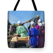 Amish On Steam Engine Tote Bag