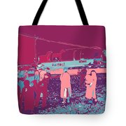 Amish Red And Blue Tote Bag