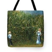 Amish Siblings In Cornfield  Tote Bag