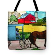 Amish Stained Glass Tote Bag