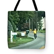 Amish Teacher Going To School Tote Bag