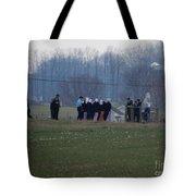 Amish Teens At An Easter Monday Gathering Tote Bag