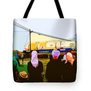 Amish Watching A Nuclear Reactor Go By Tote Bag