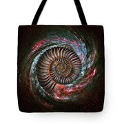 Ammonite Galaxy Tote Bag