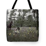 Among The Daffodils Tote Bag