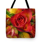 Among The Rose Leaves Tote Bag