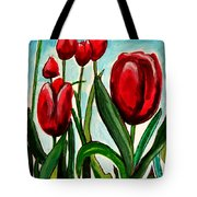 Among The Tulips Tote Bag