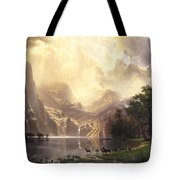 Among_the_sierra_nevada_mountains Tote Bag