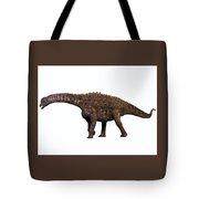 Ampelosaurus On White Tote Bag