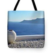 Amphora In Santorini, Greece Tote Bag