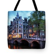 Amsterdam At Twilight Tote Bag