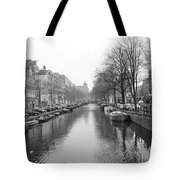 Amsterdam Canal Black And White 2 Tote Bag