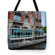 Amsterdam Holland Canal Hotel Restaurant Tote Bag