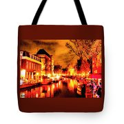 Amsterdam Night Life L A S Tote Bag