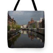 Amsterdam - Singel Canal With The Floating Flower Market Tote Bag