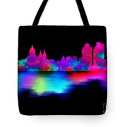 Amsterdam Skyline - Pink Blue Tote Bag