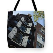 Amsterdam Spring - Arched Windows And Shutters - Right Tote Bag