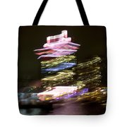 Amsterdam The Netherlands A'dam Tower Abstract At Night. Tote Bag