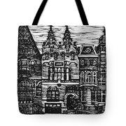 Amsterdam Woodcut Tote Bag