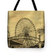 Amusement Park Vintage Tote Bag