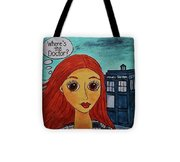 Amy Pond Where's The Doctor Tote Bag