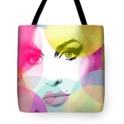 Amy Portrait Pink Yellow  Tote Bag