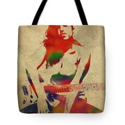Amy Winehouse Watercolor Portrait Tote Bag