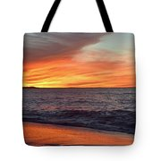 An Absolute Fire In The Sky Tote Bag