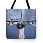 An Ac-130h Gunship Aircraft Jettisons Tote Bag