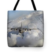 An Ac-130u Gunship Jettisons Flares Tote Bag