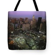 An Aerial View Of Ground Zero Tote Bag