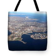 An Aerial View Of Naval Station Newport Tote Bag