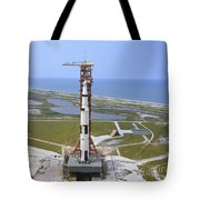 An Aerial View Of The Apollo 15 Tote Bag