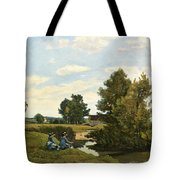 An Afternoon Along The Loing Near Saint-prive Tote Bag