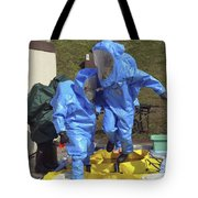 An Airman And A Soldier Jump Into A Tub Tote Bag by Stocktrek Images