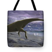 An Albino Carnotaurus Surprising Tote Bag