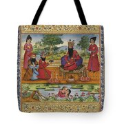 An Album Leaf With A Miniature Depicting Tote Bag
