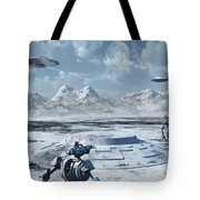 An Alien Base Located In The Antarctic Tote Bag